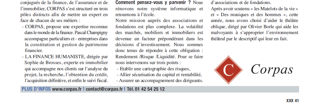 Corpas fin d'article manager